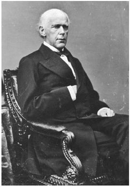 U.S. Supreme Court chief justice Salmon P. Chase presided over the impeachment trial of Andrew Johnson in 1868. Library of Congress.