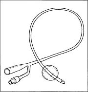 A Foley catheter.