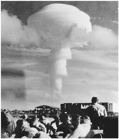 A United States atomic experiment, 1962. A nuclear device is exploded in the atmosphere, as seen from Christmas Island, Australia. Such tests were later banned by the 1963 Limited Test Ban Treaty. (© AP/WIDE WORLD PHOTOS)