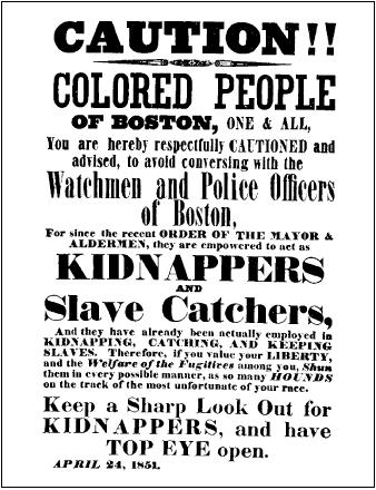 A warning to fugitive slaves. ( AP/WIDE WORLD PHOTOS)