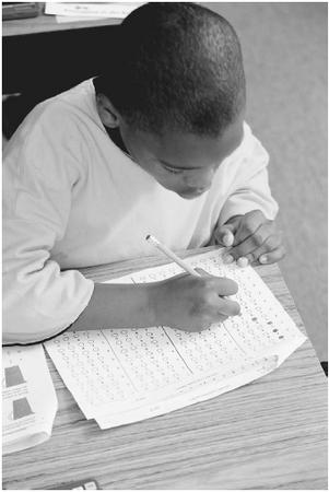 The No Child Left Behind Act will increase the use of standardized tests in key subjects, the results of which will eventually determine whether or not a school will continue to receive federal funding. (©WILL & DENI MCINTYRE/CORBIS)