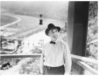 "George William Norris (1861944), known as the ""father of the TVA."" Pictured here, Senator Norris inspects the Norris Dam. (TENNESSEE VALLEY AUTHORITY)"
