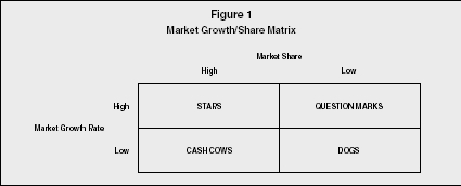 Figure 1 Market Growth/Share Matrix