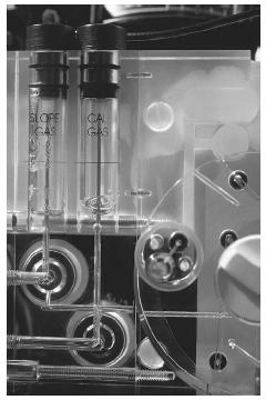 A blood gas analyzer from Corning Corporation. (Photograph by Hank Morgan, Photo Researchers, Inc. Reproduced by permission.)