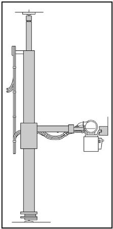 Floor-to-ceiling tube suspension system. (Delmar Publishers, Inc. Reproduced by permission.)