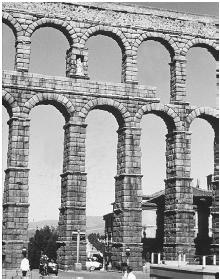 Aqueducts in Rome supplied the city with potable water. Sewers and drains carried wastewater away. (Archive Photos)