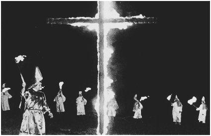 The state of Wisconsin wanted to punish people who committed hate crimes, such as cross burning, more severely than other crimes. Reproduced by permission of the Corbis Corporation.