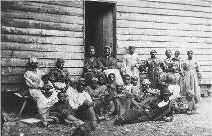 Often escaped slaves would set up group homes to support and aid one another in finding their way North and finding new homes. Courtesy of the Library of Congress.