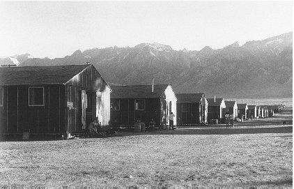 Many Japanese Americans were held at the Manzanar Internment Camp in Independence, California. Reproduced by permission of the Corbis Corporation.