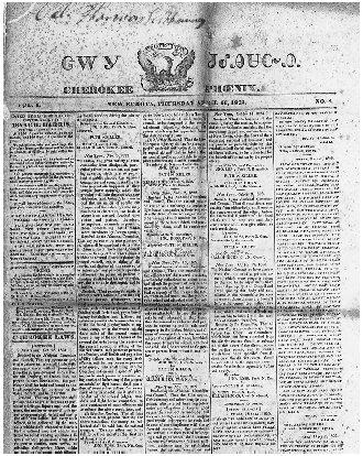 The case involving the Cherokee Nation was followed in the local Cherokee newspaper. Courtesy of the Library of Congress.