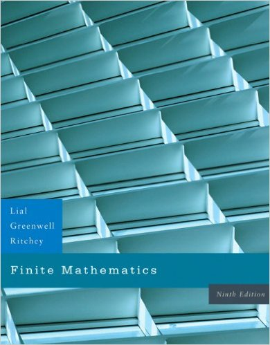 Book Cover for Finite Mathematics (9th Edition, Margaret Lial)
