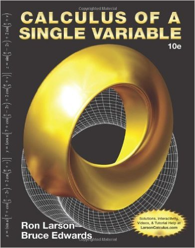 Book Cover for Calculus of a Single Variable (10th Edition,  Ron Larson)